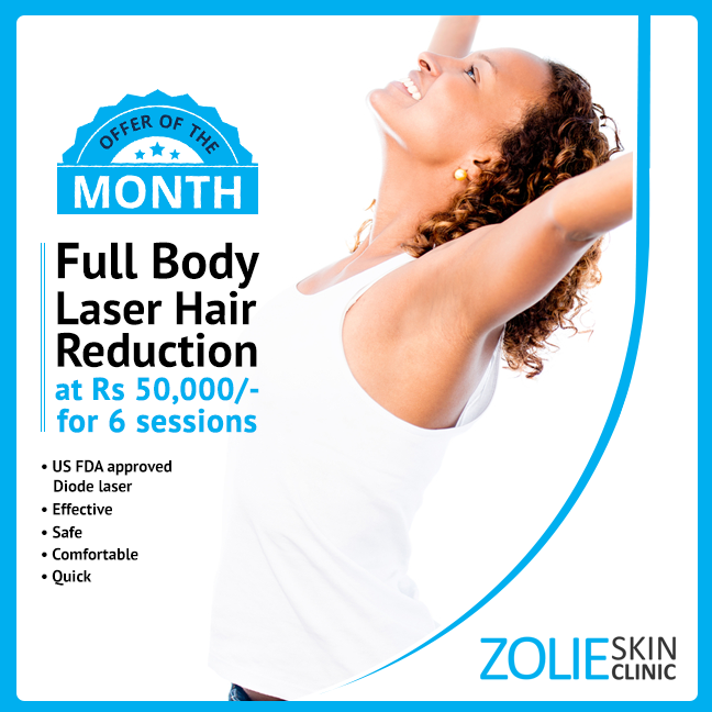 Cost Of Full Body Laser Hair Reduction In Delhi Zolieskinclinic